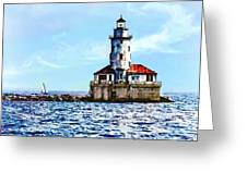 Chicago Il - Chicago Harbor Lighthouse Greeting Card
