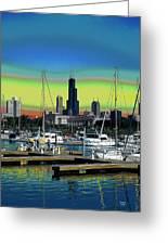 Chicago Marina Greeting Card
