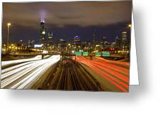 Chicago Skyline South Side View Greeting Card