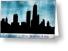 Chicago The Windy City Greeting Card