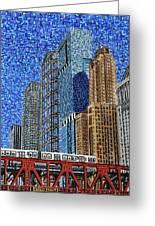 Chicago Wells Street Bridge Greeting Card