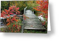 Chikanishing River Bridge Greeting Card