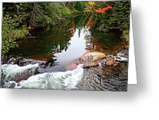Chikanishing River In Autumn Greeting Card