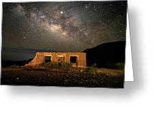 Chisos Mountain Homestead Under The Milky Way Greeting Card