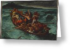 Christ Asleep During The Tempest  Greeting Card