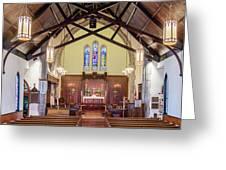 Christ Episcopal Interior Greeting Card