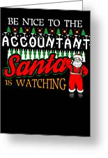 Christmas Accountant.Christmas Accountant Santa Says Be Nice To The Accountant By Kanig Designs