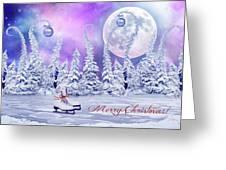 Christmas Card With Ice Skates Greeting Card
