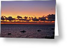 Christmas Morning Sunrise Greeting Card by Jeremy Hayden