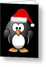 Christmas Santa Penguin Greeting Card