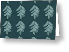 Christmas Tree Pattern Greeting Card
