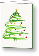 Christmas Tree With Decoration Greeting Card