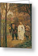 Christus Und Die J Nger Von Emmaus 1914 Greeting Card