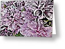 Chrysanthemum Abstract. Greeting Card