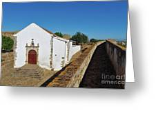 Church Of Misericordia In Medieval Castle Greeting Card