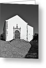 Church Of Misericordia In Monochrome Greeting Card