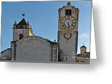 Church Of Saint Mary In Tavira. Portugal Greeting Card