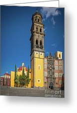 Church Of San Francisco In Puebla Greeting Card