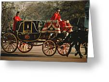 Churchill Arrives At Buckingham Palace Greeting Card