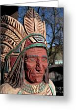 Cigar Store Indian  Greeting Card