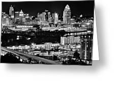 Cincinnati Covington And Ohio River Greeting Card