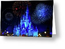 Cinderella Castle Fireworks Greeting Card