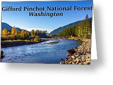 Cispus River In The Gifford Pinchot National Forest, Washington State Greeting Card