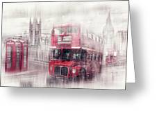 City-art London Westminster Collage II Greeting Card