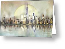 City In The Sky Greeting Card