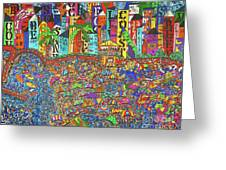 City Meets The Bay Greeting Card