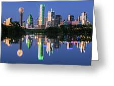 City Of Dallas, Texas Reflection Greeting Card by Robert Bellomy