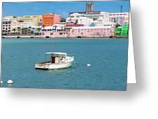 City Of Hamilton Bermuda Greeting Card