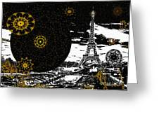 City Of Lights - Kaleidoscope Moon For Children Gone Too Soon Number 6  Greeting Card