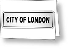 City Of London Nameplate Greeting Card