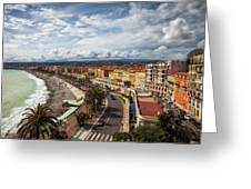 City Skyline Of Nice In France Greeting Card