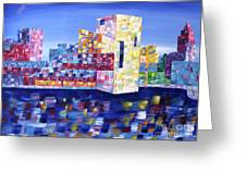 Cityscape Cleveland Greeting Card