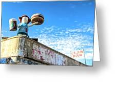 Clam Bar Theme Park Coney Island  Greeting Card