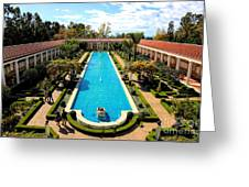 Classic Awesome J Paul Getty Architectural View Villa  Greeting Card