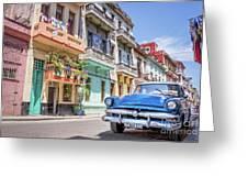 Classic Car In Havana, Cuba Greeting Card