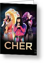 Classic Cher Trio Greeting Card