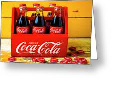 Classic Six Pack Of Cokes Greeting Card
