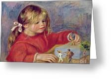 Claude Renoir At Play Greeting Card