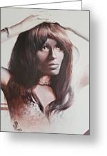 Claudia Lennear.brown Sugar.lady Grinning Soul Greeting Card