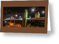 Cleveland Lights  Greeting Card