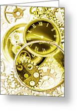 Clock Watches Greeting Card