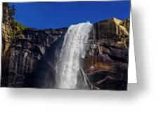Close Up Bridalveil Falls Greeting Card
