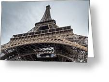 Close Up View Of The Eiffel Tower From Underneath  Greeting Card