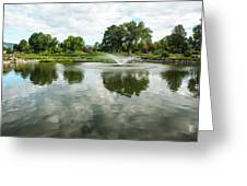 Clouds On Ashley Pond Greeting Card