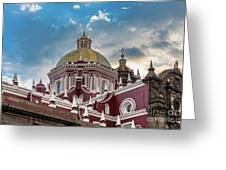 Clouds Over Puebla Cathedral Greeting Card