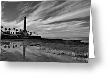 Clouds Over The Chipiona Faro Greeting Card